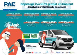 Dépistage Covid-19 gratuit et itinérant
